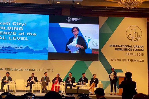Mayor Abby Binay presented on Monday Makatis disaster resilience initiatives at the International Urban Resilience Forum in Seoul / Makati PIO