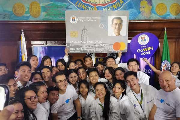 Manila partners with Globe Telecom