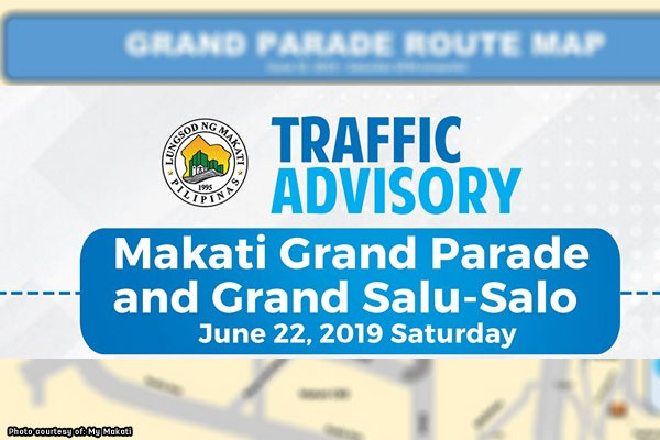 #MNCAdvisory: Makati rerouting for foundation day parade, June 22