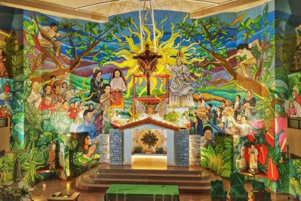Biggest altar mural in PH / Rappler