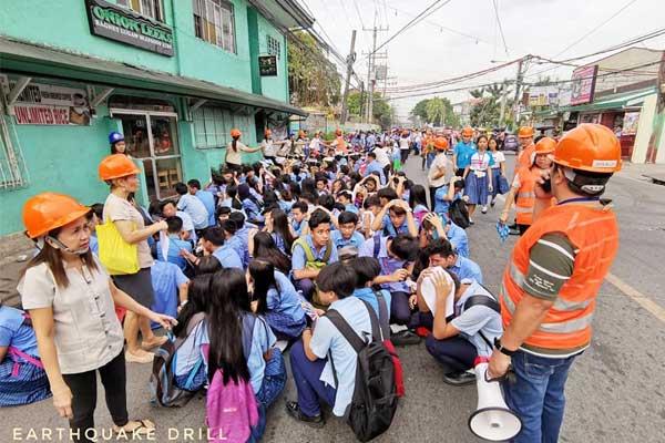 Pinagbuhatan High School National Earthquake Drill last November 14, 2019