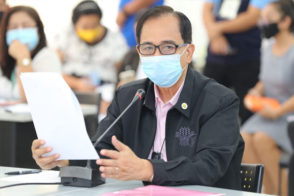 Agriculture Secretary William Dar explains the need for P32 billipn supplemental fund for the expeditious implementation of the Ahon Lahat, Pagkaing Sapat Kontra sa COVID-19 or ALPAS COVID-19. (Photo courtesy of DA) / PIA