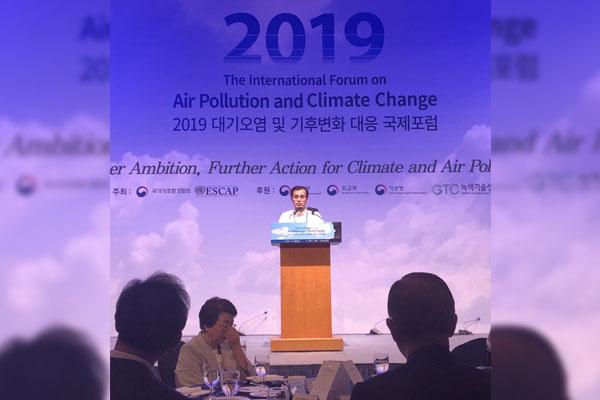 Manila City Mayor Francisco Isko Moreno Domagoso during the International Forum on Air Pollution and Climate Change in Seoul, South Korea (Photo courtesy of Manila Public Information Office via Joseph Pedrajas)