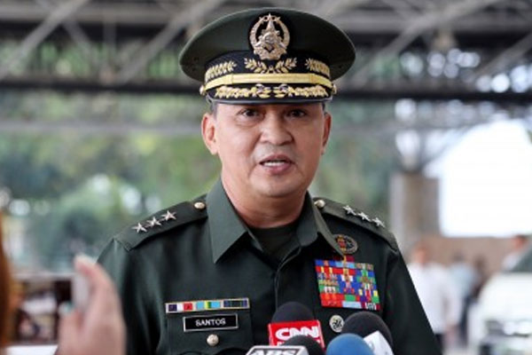 Armed Forces of the Philippines chief-of-staff Lt. Gen. Felimon Santos, Jr. / PNA