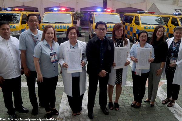 Qc Hands Over 70 Ambulances