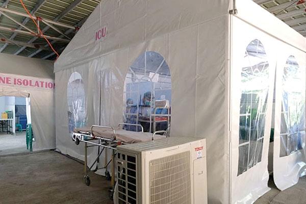 Quezon Medical Center Covid-19 tents (Photo courtesy of Quezon-PIO)