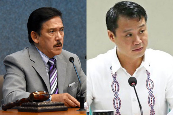 Senate President Vicente Sotto III and Senator Sherwin Gatchalian