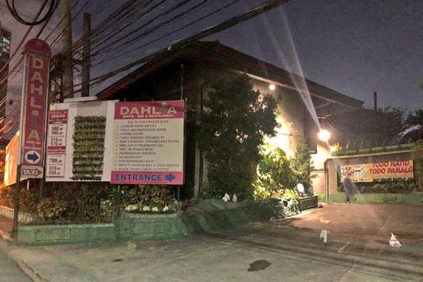 Dahlia Hotel Pasig / Photo Courtesy Pasig City Mayor Vico Sotto Facebook Page